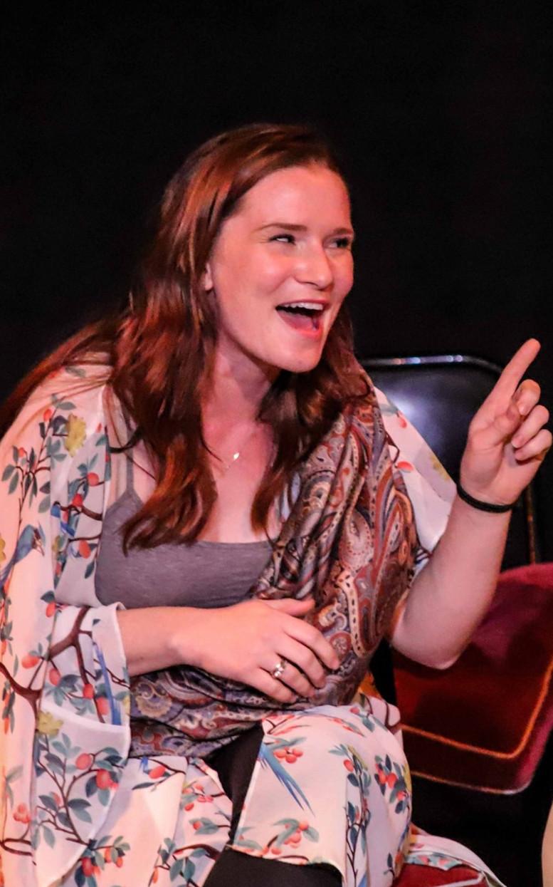 Brigid on Stage